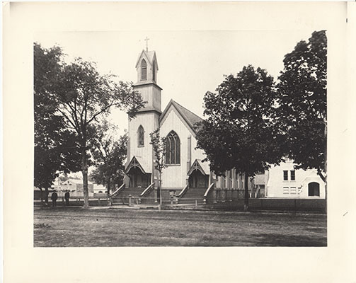A picture of the church after it's completion around 1889.